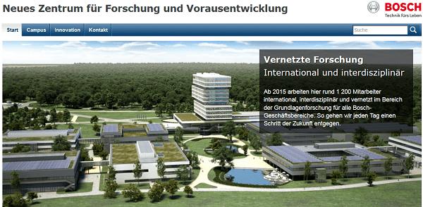 Neues Bosch Forschungszentrum in Renningen