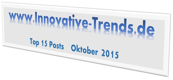 Top 15-Posts auf Innovative Trends im Oktober 2015