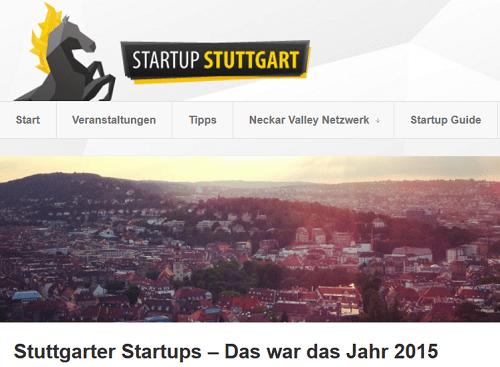 Rückblick auf die StartUp-Szene 2015 in Stuttgart