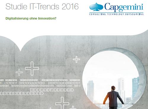 IT-Trends 2016: Aktuelle Studie von Capgemini