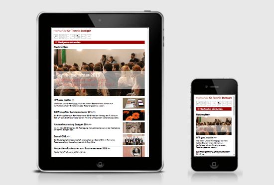 HFT Stuttgart - Jetzt auch mit mobiler Webseite