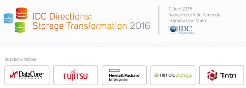 IDC Directions: Storage Transformation 2016 am 7. Juni 2016 in FFM