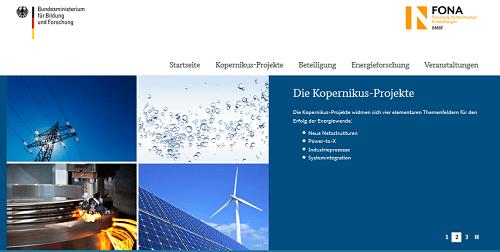 Die Kopernikus-Projekte zur Umsetzung der Energiewende (Bild: BMBF)