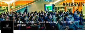 61. Mercedes-Benz Social Media Night am 2.11.