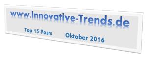 Top 15 Posts im Oktober 2016