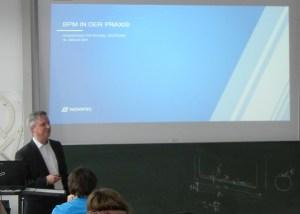 BPM in der Praxis - Vortrag von BPM-Experte Holger Hagen von NovaTec an der HFT Stuttgart