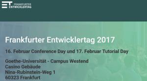 Frankfurter Entwicklertag 2017