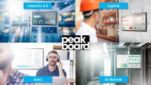 Peakboard - Professionelle Visualisierung für unterschiedliche Anwendungsfelder
