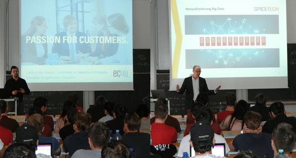 Experten von ec4u (CRM/Salesforce) und Spicetech (Big Data) zu Gast an der HFT Stuttgart