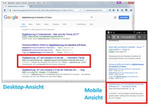AMP-Seiten: Darstellung in der Google-Suche