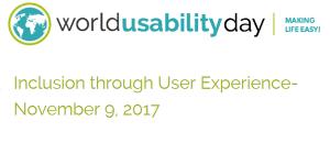 World Usability Day 2017