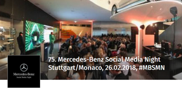 75. Mercedes-Benz Social Media Night am 26.2.2018 in Stuttgart / Monaco
