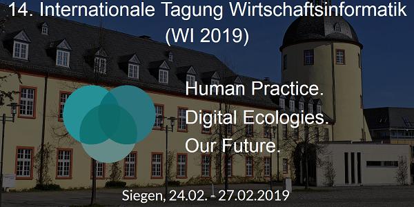 Wirtschaftsinformatik 2019 (WI 2019) vom 24.2.-27.2.2019 in Siegen (Save-the-Date)