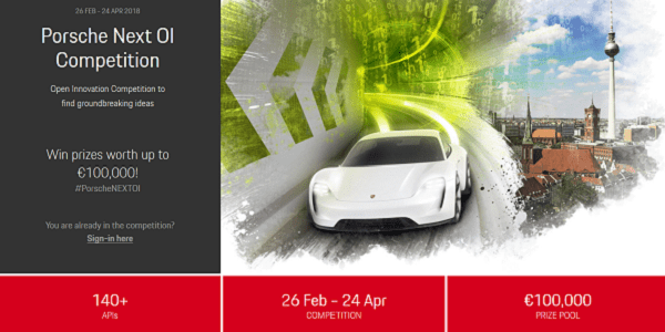 Porsche Next OI Competition #PorscheNEXTOI - Open Innovation / API - Wettbewerb