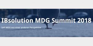 IBsolution MDG Summit 2018