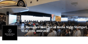 81. Mercedes-Benz Social Media Night (MBSMN)