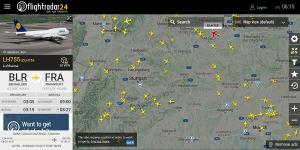 Flightradar24 - Wissen,was am Himmel fliegt