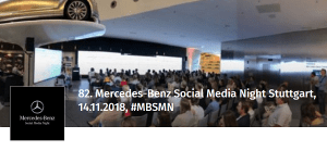 82. Mercedes-Benz Social Media Night Stuttgart (MBSMN)