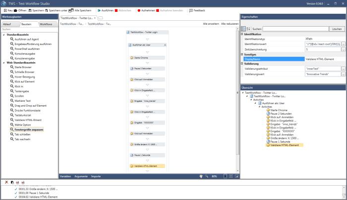Test Workflow Studio (TWS) - Beispiel
