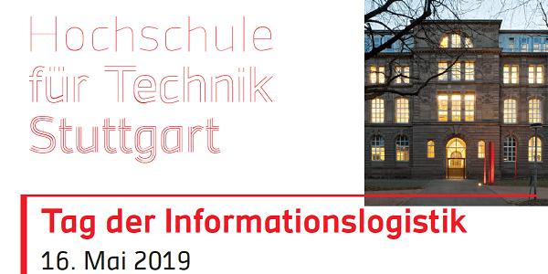 HFT Stuttgart: Tag der Informationslogistik 2019 am 16. Mai, u.a. mit Daimler und Garmin