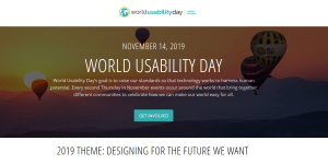 World Usability Day 2019