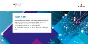 Digital-Gipfel 2019 in Dortmund