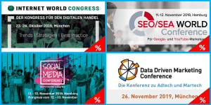 Top Events zu eCommerce, SEO/SEA, Social Media und Online-Marketing