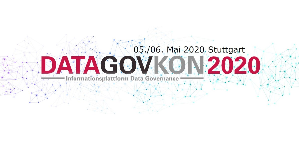 DATAGOVKON 2020 am 29.+30.9. in Stuttgart: Data Governance + Data Quality #datagovkon
