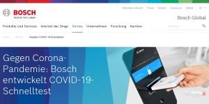 Bosch entwickelt COVID-19-Schnelltest