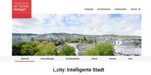 HFT Stuttgart erhält 4,5 Mio. Euro für die Weiterführung des Projekts i_city