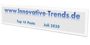 Top 10 Beiträge im Juli 2020 auf Innovative Trends