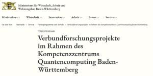 Verbundforschungsprojekte Quantencomputing