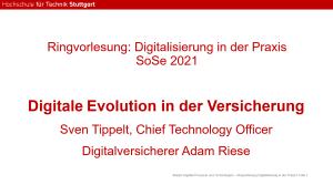 Vortrag: Digitale Evolution in der Versicherung