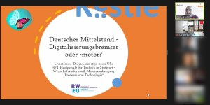 Ringvorlesung Digitalisierung in der Praxis: Gastvortrag Hr Georg Kästle