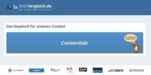 Contentbär - Das Keyword für den SEO-Contest 2021