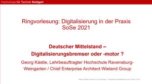 Gastvortrag von Georg Kästle an der HFT Stuttgart
