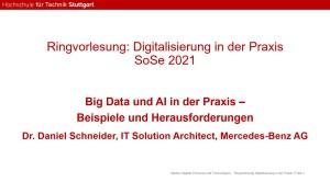 Gastvortrag zu Big Data und KI von Mercedes