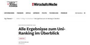 WiWo-Ranking 2021: Wirtschaftsinformatik und Informatik der HFT Stuttgart in den Top 10