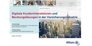 """Gastvortrag """"Digitale Kundeninteraktionen und Beratungslösungen in der Versicherungsindustrie"""""""