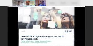 """Gastvortrag """"Front-2-Back Digitalisierung bei der LBBW"""""""