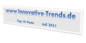 Top 10 Beiträge im Juli 2021