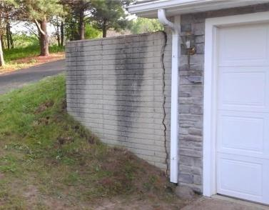 Cracked Retaining Wall