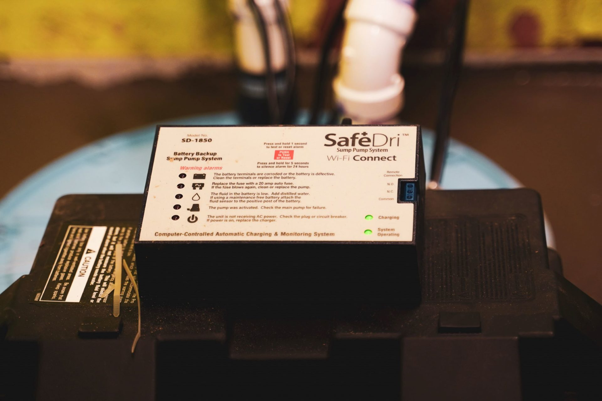 SafeDri Sump Pump Battery Backup