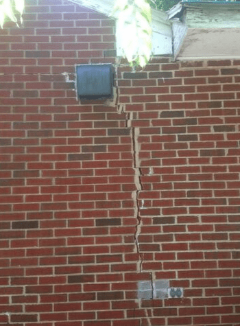 Foundation with cracked wall in Saint Paul, MN