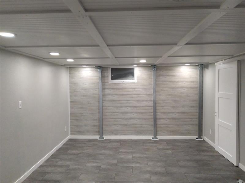 basement finished after intellibrace installation
