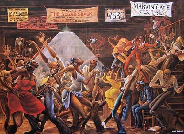 Ernie Barnes Innovative Black Artists Exhibit