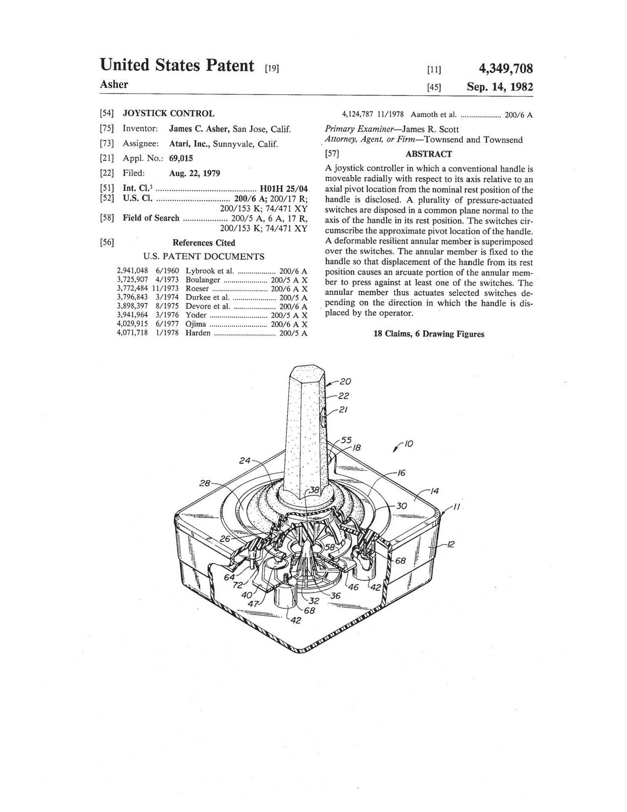 Atari joystick patent…now that is a classic « Patent of