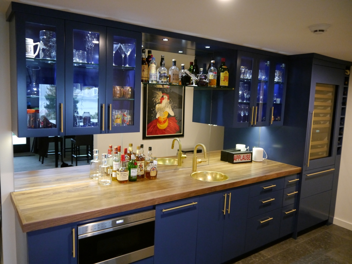 Kenmore Modern Kitchen Remodel With 3 Cabinet Finishes