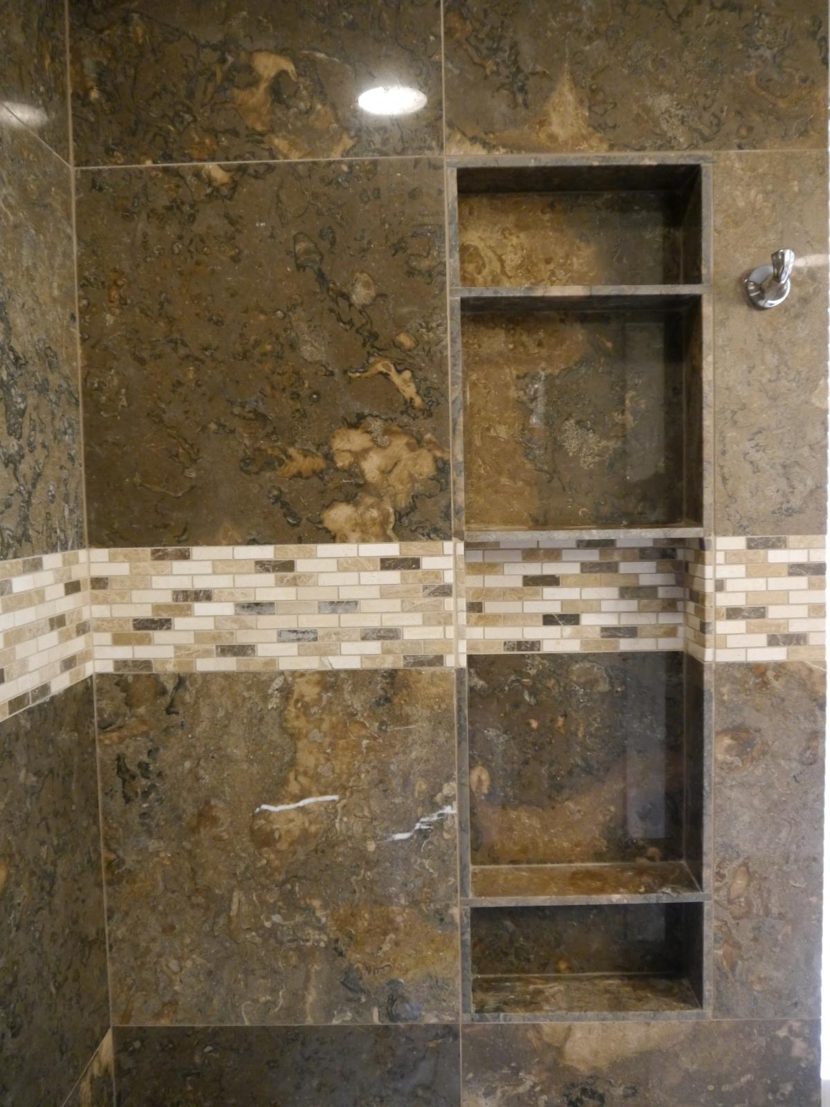 kitchen and bath remodel desk chair shower & tub niches