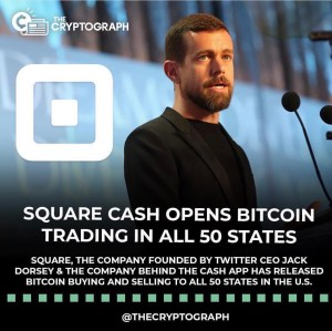 Square Cash App Opens Bitcoin Trading In All 50 States